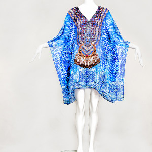 Blue Treasures embellished, Buy Kaftan Online, kaftans under $99, Kaftans sale, kaftans online