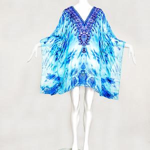 Crystal Blue embellished, Buy Kaftan Online, kaftans under $99, Kaftans sale, kaftans online