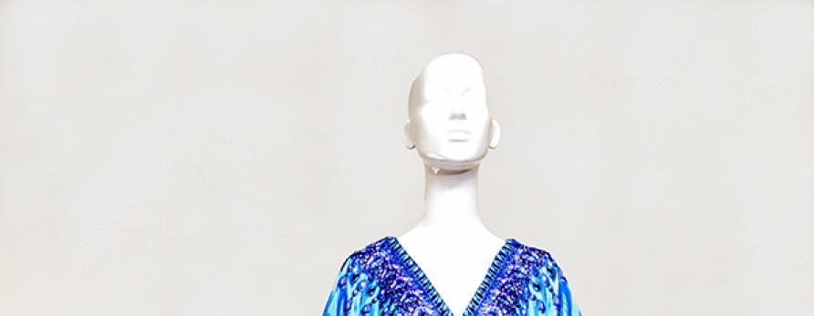 Crystal Blue Embellished Kaftan. Kaftans Online.