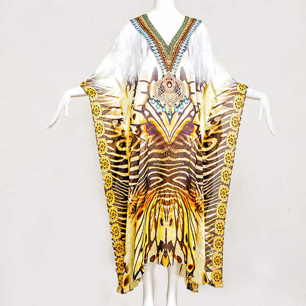 LONG EXOTIC TIGER Embellished, Buy Kaftan Online, kaftans under $99, Kaftans sale, kaftans online