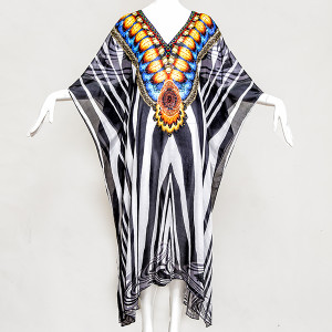 LONG EXOTIC ZEBRA Embellished, Buy Kaftan Online, kaftans under $99, Kaftans sale, kaftans online