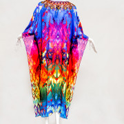 LONG WILDLIFE EMBELLISHED KAFTAN - back