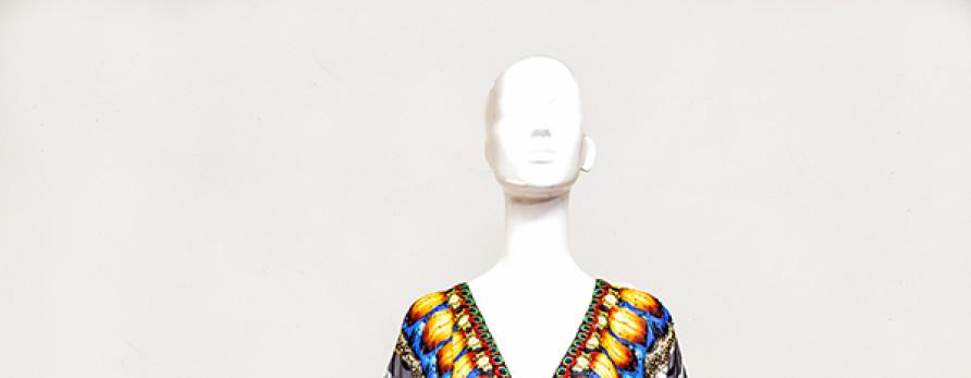 Short Exotic Zebra Embellished Kaftan- Kaftans Online